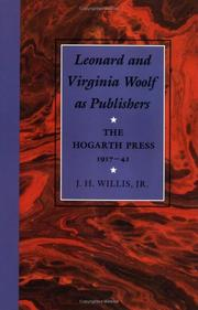 LEONARD AND VIRGINIA WOOLF AS PUBLISHERS by Jr. Willis