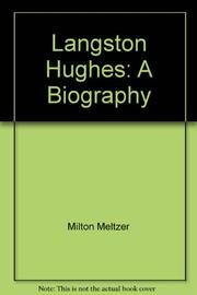 LANGSTON HUGHES by Milton Meltzer