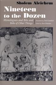 NINETEEN TO THE DOZEN by Sholem Aleichem