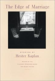 THE EDGE OF MARRIAGE by Hester Kaplan