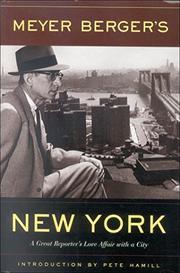 MEYER BERGER'S NEW YORK by Meyer Berger
