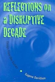 REFLECTIONS ON A DISRUPTIVE DECADE by Eugene Davidson