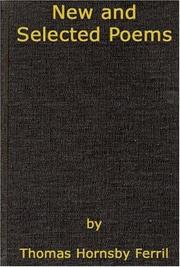NEW AND SELECTED POEMS by Thomas Hornsby Ferril