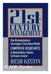 TWENTY-FIRST-CENTURY MANAGEMENT by Hesh Kestin