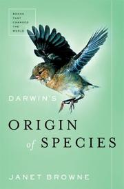 DARWIN'S ORIGIN OF SPECIES by Janet Browne