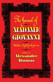 THE JOURNAL OF MADAME GIOVANNI by Alexandre Dumas