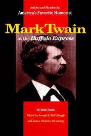 Book Cover for MARK TWAIN AT THE BUFFALO EXPRESS
