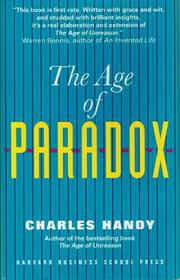 THE AGE OF PARADOX by Charles Handy