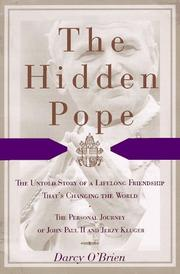 THE HIDDEN POPE by Darcy O'Brien