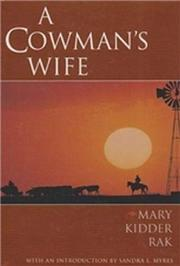 A COWMAN'S WIFE by Mary Kidder Rak