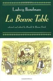 LA BONNE TABLE by Ludwig Bemelmans