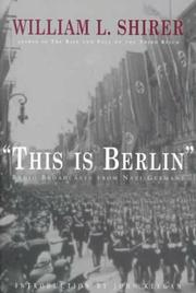 'THIS IS BERLIN' by William L. Shirer
