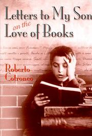 LETTERS TO MY SON ON THE LOVE OF BOOKS by Roberto Cotroneo