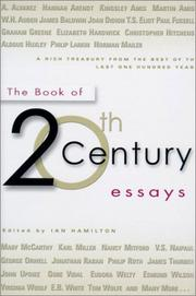 THE BOOK OF 20TH CENTURY ESSAYS by Ian Hamilton