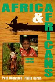 AFRICA AND AFRICANS by Paul Bohannan