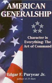 AMERICAN GENERALSHIP by Jr. Puryear