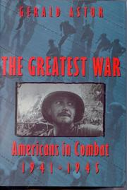 Cover art for THE GREATEST WAR