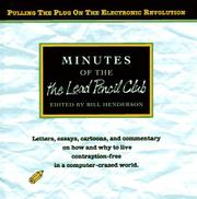 MINUTES OF THE LEAD PENCIL CLUB by Bill Henderson