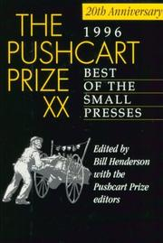 THE PUSHCART PRIZE XX by Bill Henderson