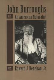 JOHN BURROUGHS by Jr. Renehan