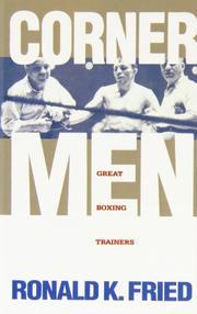 CORNER MEN by Ronald K. Fried
