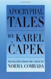 APOCRYPHAL TALES by Karel Capek