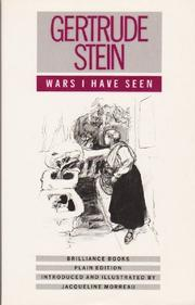 WARS I HAVE SEEN by Gertrude Stein