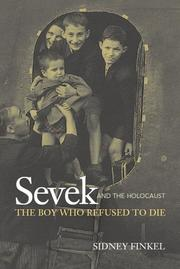 Cover art for SEVEK AND THE HOLOCAUST