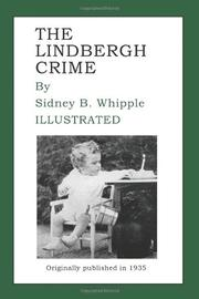 THE LINDBERGH CRIME by Sidney B. Whipple