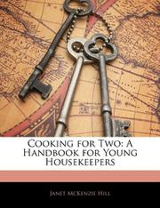 COOKING FOR TWO by Janet & Sally Larkin Hill
