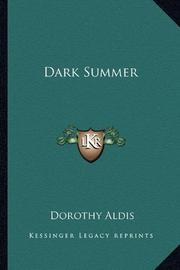 DARK SUMMER by Dorothy Aldis