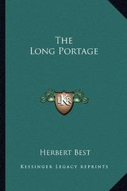 THE LONG PORTAGE by Herbert Best