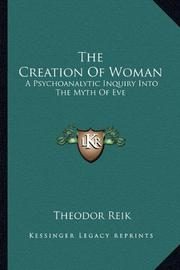 THE CREATION OF WOMAN by Theodor Reik