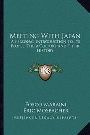MEETING WITH JAPAN by Fosco Maraini