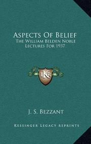 ASPECTS OF BELIEF by J. S. Bezzant