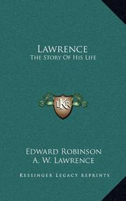 LAWRENCE by Edward Robinson