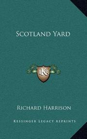 SCOTLAND YARD by Richard Harrison