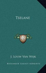 TSELANE by Jacqueline Louw van Wijk