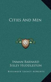 CITIES AND MEN by Inman Barnard