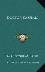 DOCTOR RABELAIS by D. B. Wyndham Lewis