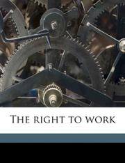 THE RIGHT TO WORK by Nels Anderson