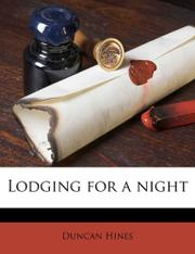 LODGING FOR A NIGHT by Duncan Hines