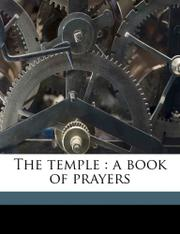 THE TEMPLE: A Book of Prayers by W. E. Orchard