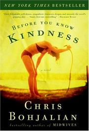 Book Cover for BEFORE YOU KNOW KINDNESS