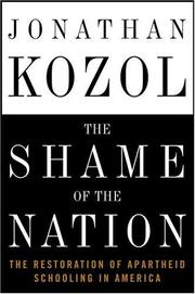 Book Cover for THE SHAME OF THE NATION