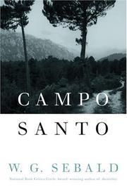 CAMPO SANTO by W.G. Sebald