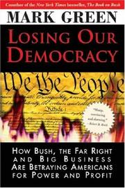 Cover art for LOSING OUR DEMOCRACY