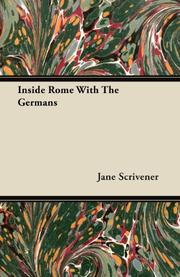 INSIDE ROME WITH THE GERMANS by Jane Scrivener