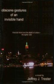 Book Cover for OBSCENE GESTURES OF AN INVISIBLE HAND