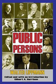 PUBLIC PERSONS by Walter Lippmann